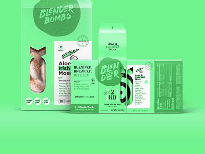 BB 2pk + 10pk Aloe identity branding protein snack granola dieline package bb bombs blender packaging aloe