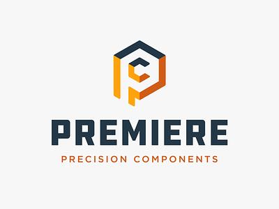 Premiere Precision Components Logo geometric ppc georgia atlanta illustration typography design identity logo logo design branding