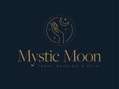 Mystic Moon Logo illustration typography design identity logo logo design branding