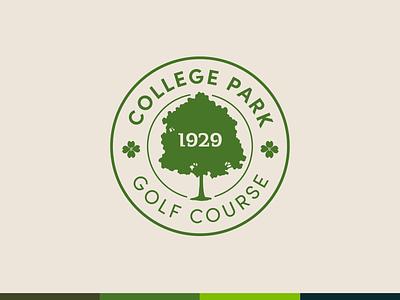 College Park Golf Course Concept golf georgia atlanta illustration typography design identity logo logo design branding