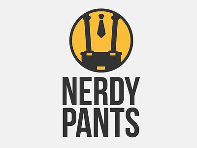 Nerdy Pants nerd logo design branding