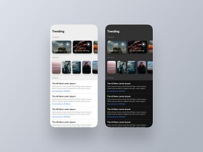 Trending - DailyUI 069 069 trending ui trending dark mode minimal app ui daily ui design