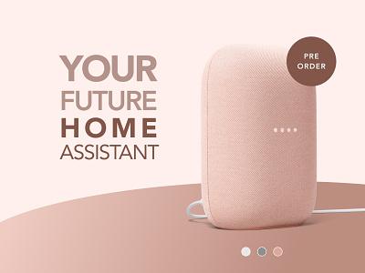 Pre Order - DailyUI 075 flat branding smart speaker 075 landing page buy pre order gradient daily ui design