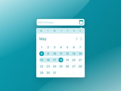 Date Picker - DailyUI 080 minimal 080 calendar datepicker date web ui daily ui design