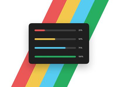 Progress Bar - DailyUI 086 086 progress bar progress loading color colour minimal ui daily ui design