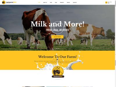 Dairy product provider website website design web development fashion design wordpress theme wordpress website web designer web design web design
