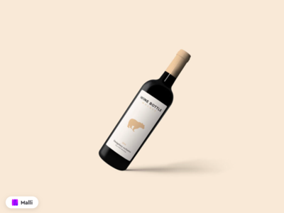 Free Red Wine Bottle Mockup