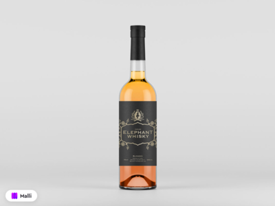 Free Bottle with Label Mockup