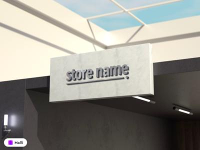 Free 3D Store Logo Mockup mock up logodesign logos logo storefront stores mockups store design store mock-up mockup design clean psd design download mockup mockup template free mockup psd freebies freebie mockup