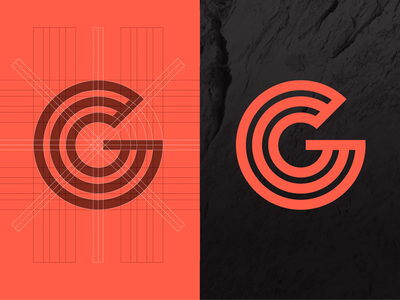Debut Shot: Garden of the Gods Colorado Mark graphic design landmark g symbol grid colorado garden of the gods identity mark logo debut