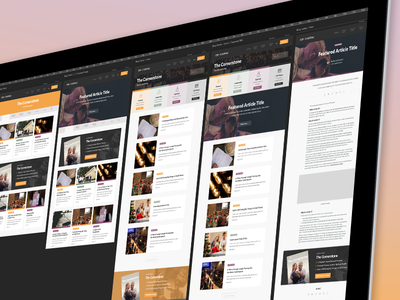 Blog Design — Multiple Artboards list view web design design black gold yellow artboard multiple artboards blog