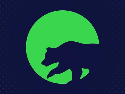 King Grizzly Pivot mark logo negative space identity vivid brand king grizzly grizzly bear