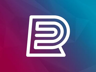 R Coil lettermark letter r brand identity mark logo