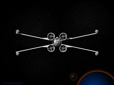 X-Wing x-wing star wars dark universe stars fireworks play fun