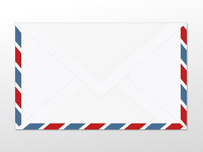 Flat Par Avion envelope (first experiments in Gravit app beta:) experiment envelope vectors illustration gravitapp gravit