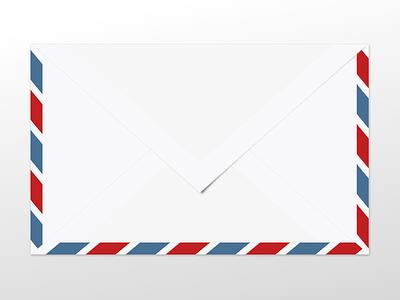 A bit less flat Par Avion envelope :-) experiment envelope vectors illustration gravitapp gravit