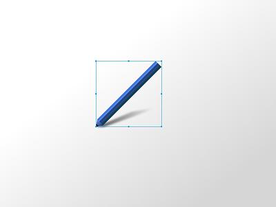 Little blue pencil - 2 blue experiment pencil vectors illustration gravitapp gravit