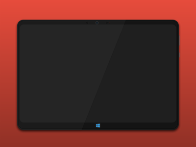 Windows Tablet (experiment) tablet black red windows phone gravitdesign experiment windows vectors illustration gravitapp gravit