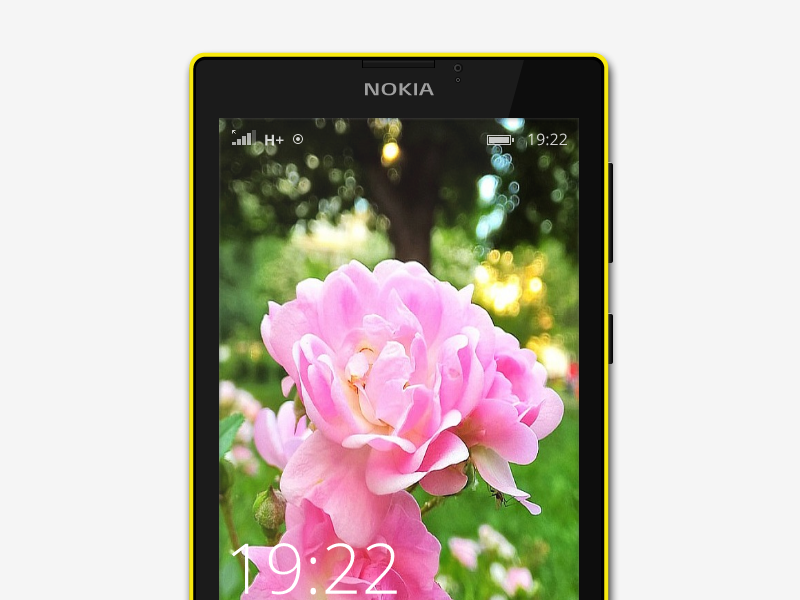 Lumia 520 (with wallpaper) by Michel Bozgounov on Dribbble