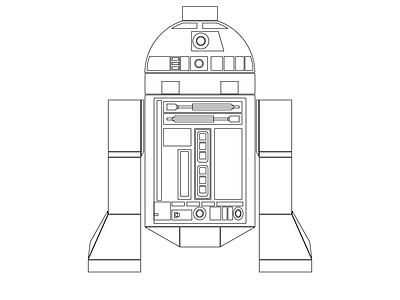 Lego R2D2 (outline) outlines lego star wars r2d2 vectors gravitapp gravit designer gravit
