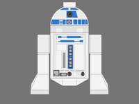 Lego R2D2 (on dark background)