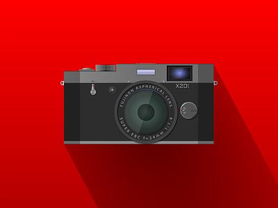 FujiFilm X20t (made in Gravit Designer) semi-flat flat icon red fujifilm fuji dark vectors illustration gravit designer gravitapp gravit