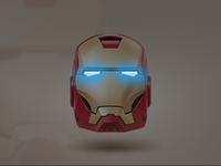 Iron Man - Glowing Eyes (CSS3)
