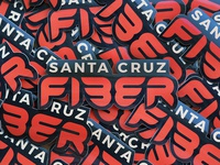 Santa Cruz Fiber Stickers