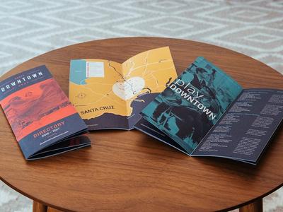 Downtown Santa Cruz – Directory duotone brochure directory dtsc downtown santa cruz