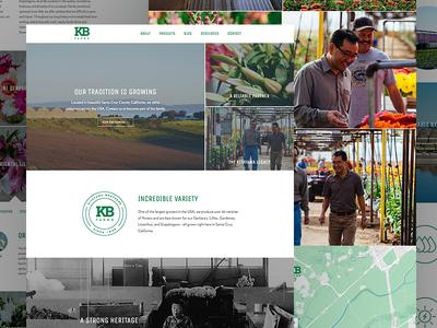 Kitayama Brothers Website ux ui interface identity branding lifestyle photography website flowers