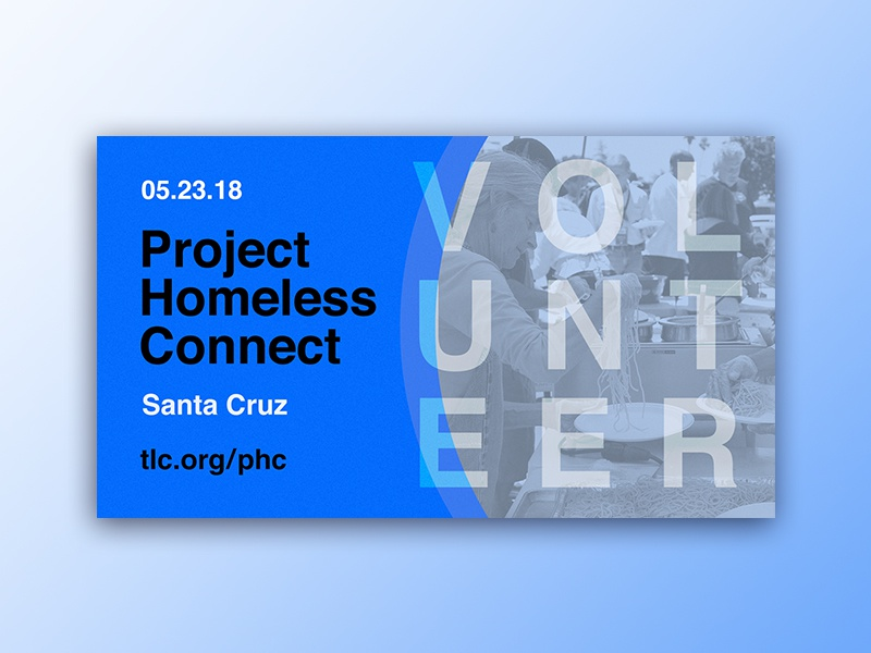 Project Homeless Connect flyer print volunteer church community service homeless