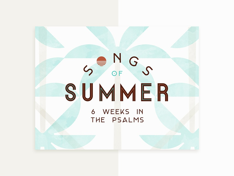 Song of Summer Postcard 2 workmark typography retro logo identity brand church beach palm tree sun summer