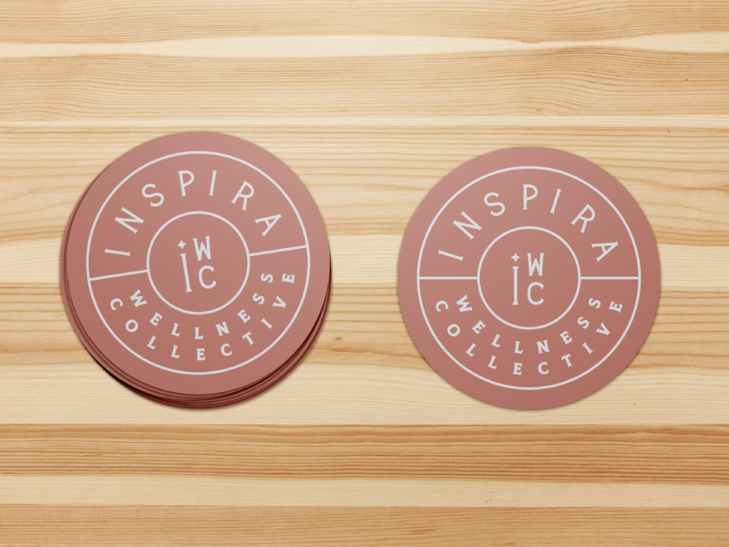 Inspira Crest inspira wellness crest lettering illustration branding logo identity