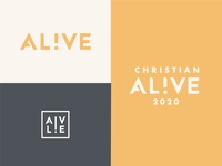 Christian Alive 2020 lettering typography logo branding identity event logo conference branding italy alive al!ve