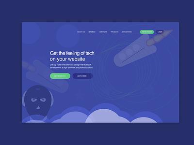 Landing page for hiring UI designers and Fullstack ui ux  ui uiux wireframe design web illustration uxui product design uidesign design branding