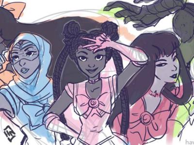 Race-bending the Sailor Scouts