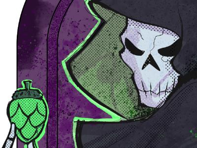 Grim Reaper Holding a Hop