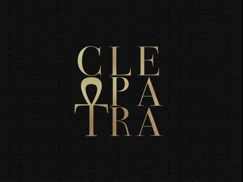 'Cleopatra' crew logo serif typography cleopatra egypt logo