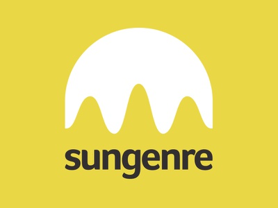 Sungenre music sun wave logo
