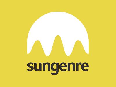 Sungenre music sun wave logo