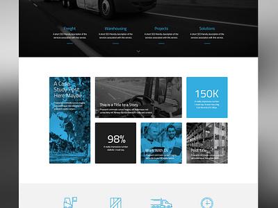 M&S Transport Website transport industry corporate uiux webdesign