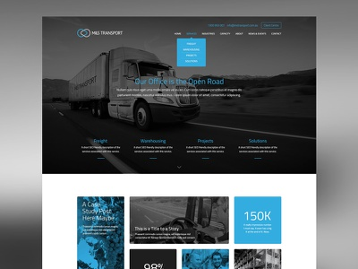 M&S Transport Website transport industry corporate uiux webdesign