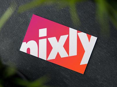 Nixly Brand Development business card logo branding