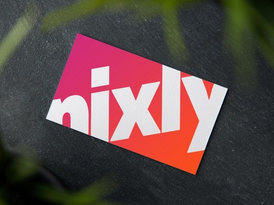 Nixly Brand Development business card logo branding