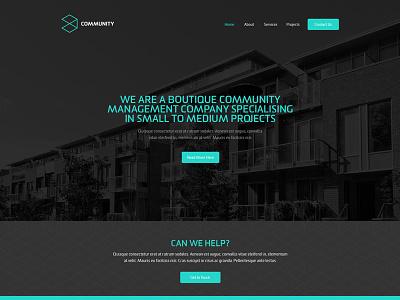 Community Home Page web design branding ux ui