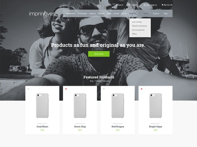 Imprintives Home Page Design