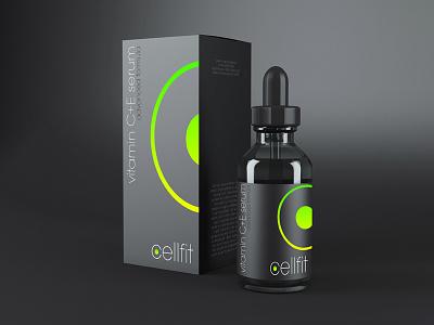 CellFit cosmetics packaging logo branding