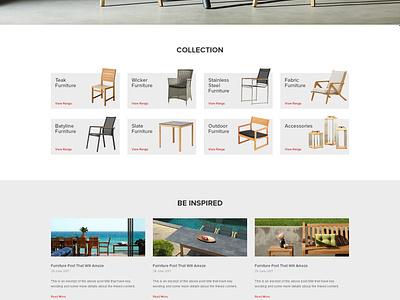 Jati Furniture Website - Home Page web design ux ui australia melbourne furniture ecommerce