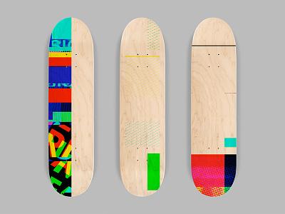 SK8 Glitch glitch abstract skateboard graphics skate art skateboarding