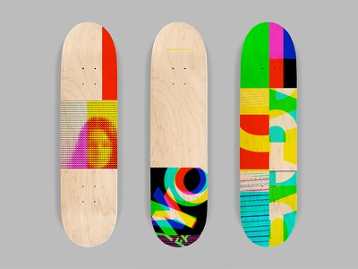 SK8 Glitch glitch abstract skateboard graphics skate art skateboarding